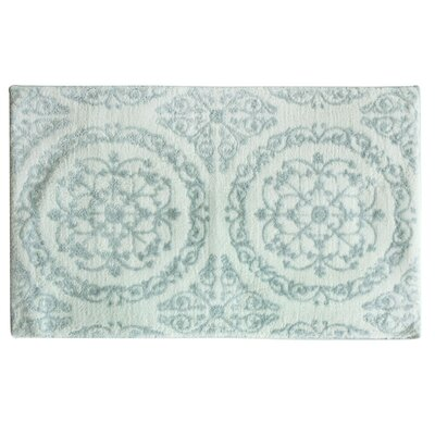 Ornamental Hand Tufted Bath Mat Color: Pearl Blue