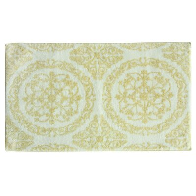 Ornamental Hand Tufted Bath Mat Color: Apricot Gelato
