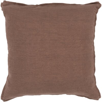 Meghan Throw Pillow Filler: Polyester, Color: Taupe