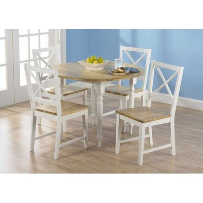 Sally 5 Piece Dining Set Finish White
