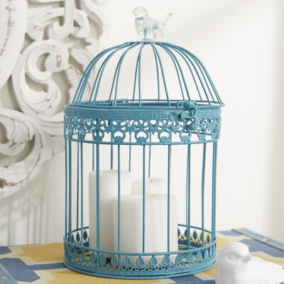 Ethelyn 2 Piece Decorative Bird Cage Set Color: Blue