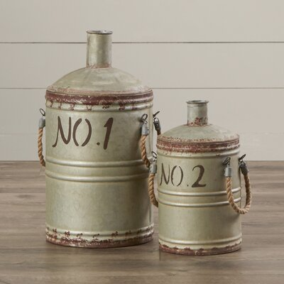 2 Piece Metal Container Set