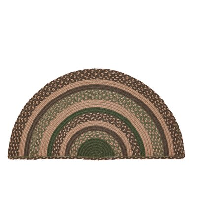 Vernonburg Brown/Green Area Rug Rug Size: Half Circle 14 x 29