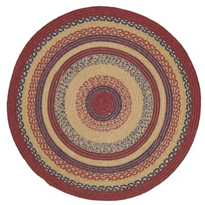 Pheobe Red/Brown Area Rug Rug Size: Round 3