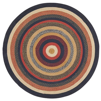 Lilian Blue/Red Area Rug Rug Size: Round 6