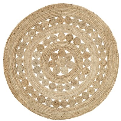 Flanagan Brown Area Rug Rug Size: Round 6
