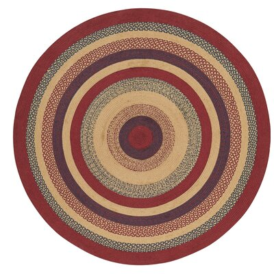 Pheobe Red/Brown Area Rug Rug Size: Round 6