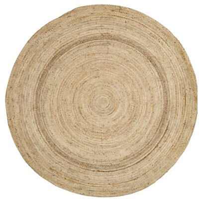 Frederick Brown Area Rug Rug Size: Round 6