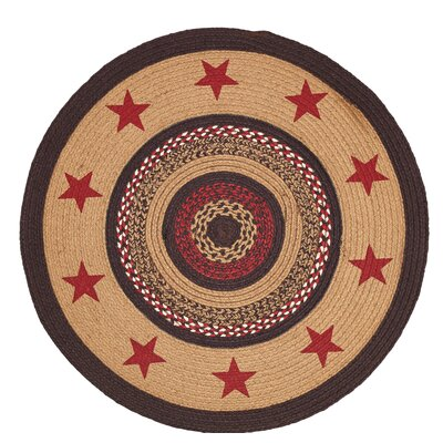Juliana Brown/Red Area Rug Rug Size: Round 3'