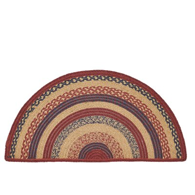 Pheobe Red/Brown Area Rug Rug Size: Half Circle 14 x 29