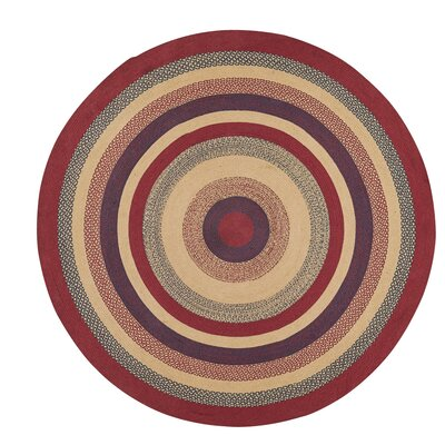 Pheobe Red/Brown Area Rug Rug Size: Round 8