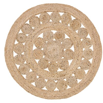 Flanagan Brown Area Rug Rug Size: Round 3