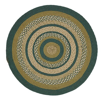 Armand Green Area Rug Rug Size: Round 3