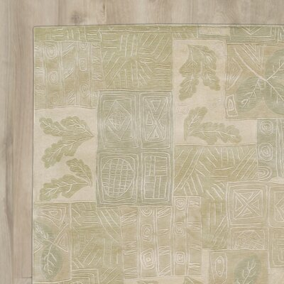 Claxton Hand-Tufted Beige/Green Area Rug