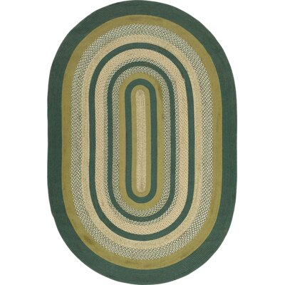 Armand Green Area Rug Rug Size: Oval 6 x 9