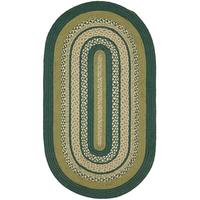 Armand Green Area Rug Rug Size: Oval 2'3