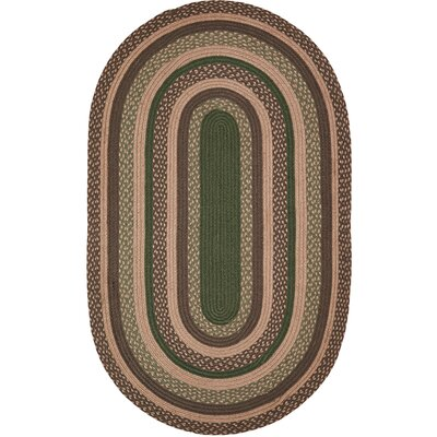 Vernonburg Brown/Green Area Rug Rug Size: Oval 3 x 5