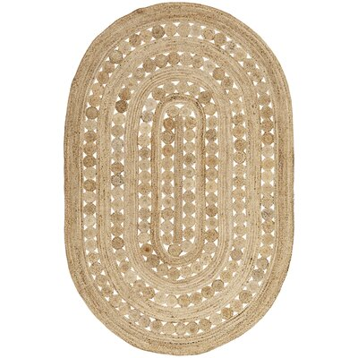 Flanagan Brown Area Rug Rug Size: Oval 6 x 9