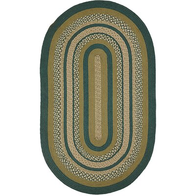 Armand Green Area Rug Rug Size: Oval 3' x 5'