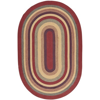 Pheobe Red/Brown Area Rug Rug Size: Oval 6 x 9