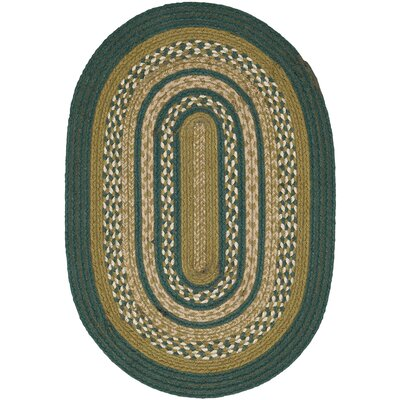 Armand Green Area Rug Rug Size: Oval 18 x 26
