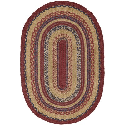 Pheobe Red/Brown Area Rug Rug Size: Oval 18 x 26