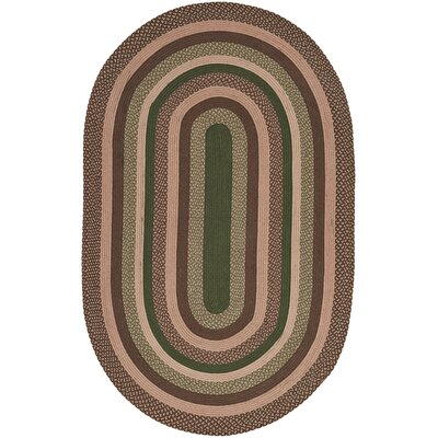 Fabiana Brown/Green Area Rug Rug Size: Oval 5 x 8