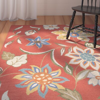 Canon Hand-Hooked Rust Area Rug
