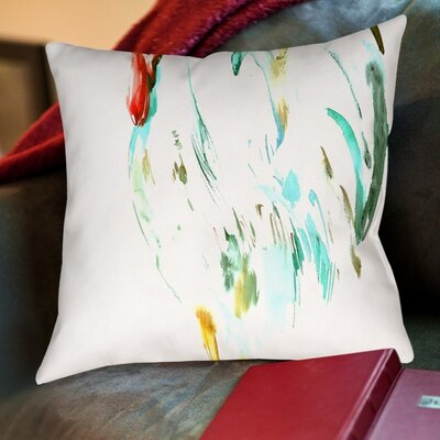 Suren Nersisyan Lee White Rooster Throw Pillow Size: 18 H x 18 W x 2 D