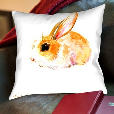 Suren Nersisyan Plaza Baby Bunny Throw Pillow Size: 16 H x 16 W x 2 D