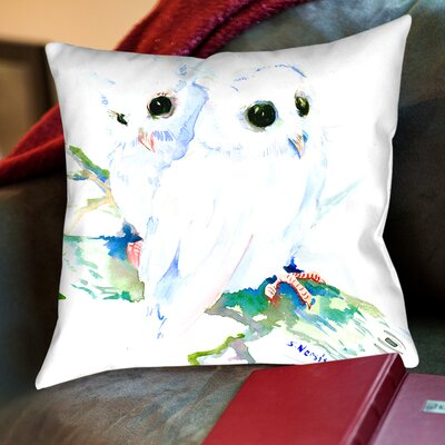 Suren Nersisyan Downey Baby Northern Owls Throw Pillow Size: 18 H x 18 W x 2 D