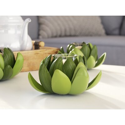 Decorative Artichoke Glass Votive