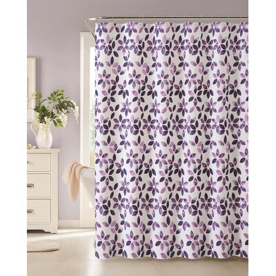Autumn Cotton Shower Curtain Color: Purple