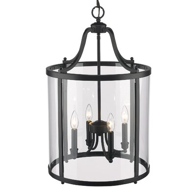 Tessie 4-Light Foyer Pendant Finish: Black