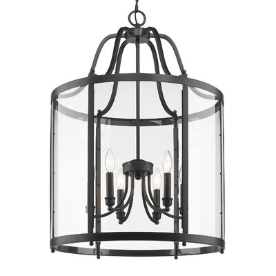 Tessie 6-Light Foyer Pendant Color: Black