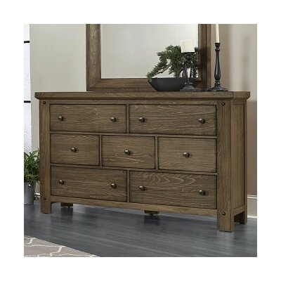 Plentywood 7 Drawer Dresser Finish: Rustic Pine
