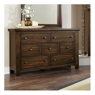 Plentywood 7 Drawer Dresser Color: Rustic Cherry