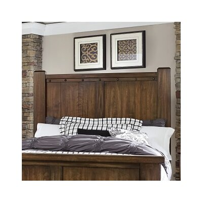 Plentywood Poster Panel Headboard Finish: Pine, Size: King