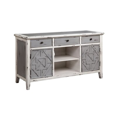 Lin Marie 54 TV Stand Color: Gray and White