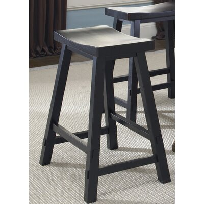 Marni 24 Bar Stool Bar Stool Color: Black