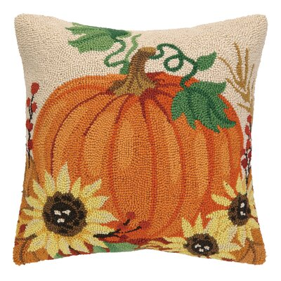 Harvest Pumpkin Hook Throw Pillow