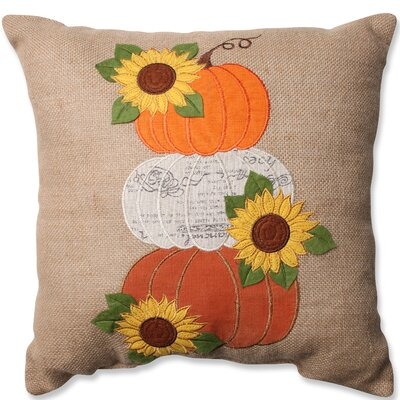 Pogson Harvest Pumpkins and Sunflowers Throw Pillow