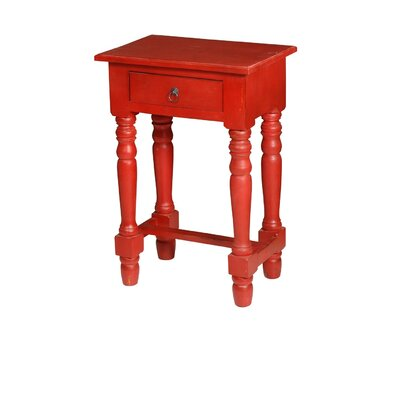 Nonie Cottage End Table Color: Red