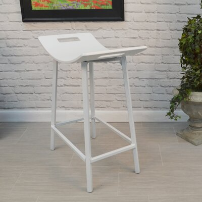 Charlie 24 Bar Stool Finish: White