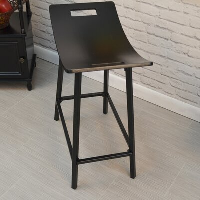 Charlie 24 Bar Stool Finish: Black