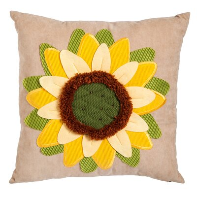 Ava Bold Sunflower Cotton Outdoor Throw Pillow