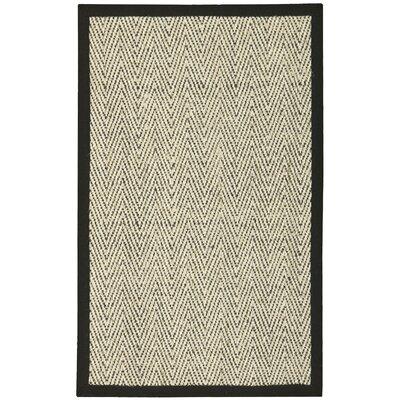 Genevieve Black/Beige Area Rug Rug Size: 2'6 x 4'