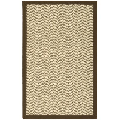Genevieve Brown/Beige Area Rug Rug Size: Rectangle 26 x 4