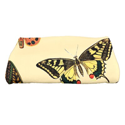 Swan Valley Butterflies Wildlife Bath Towel Color: Yellow