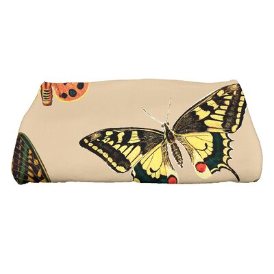 Swan Valley Butterflies Wildlife Bath Towel Color: Beige/Taupe